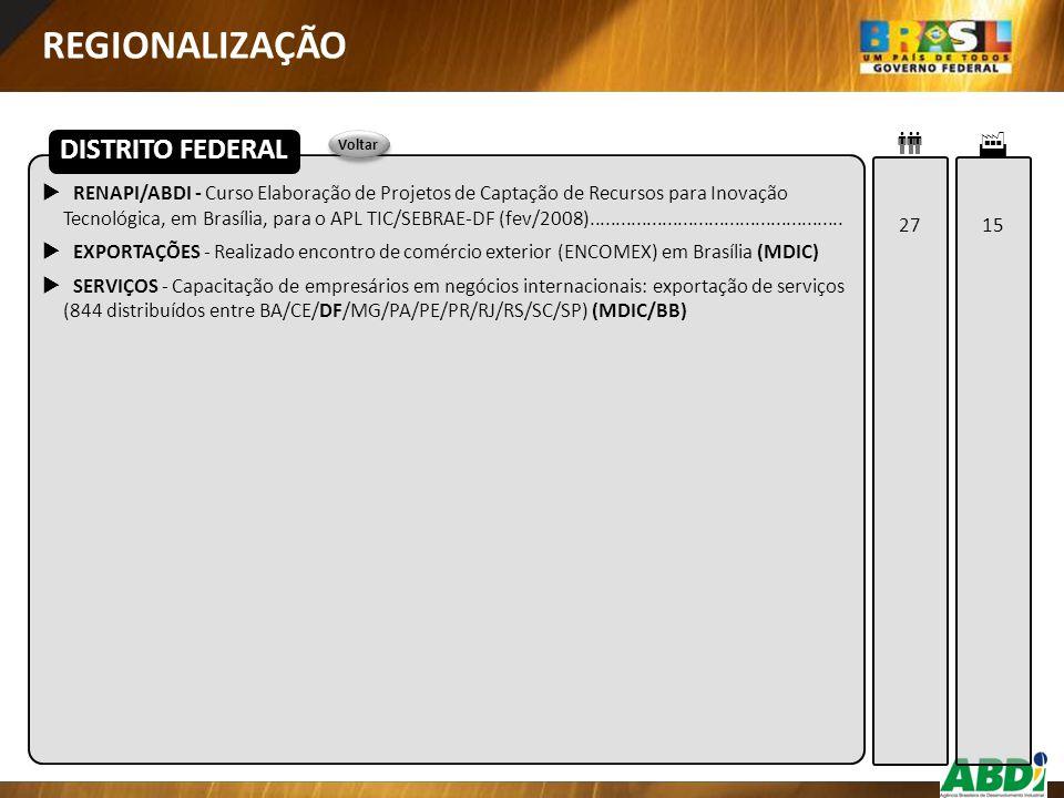 REGIONALIZAÇÃO DISTRITO FEDERAL  