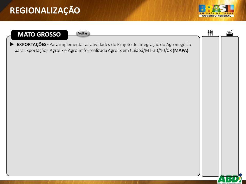 REGIONALIZAÇÃO MATO GROSSO  