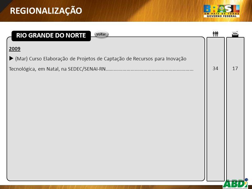 REGIONALIZAÇÃO RIO GRANDE DO NORTE   2009