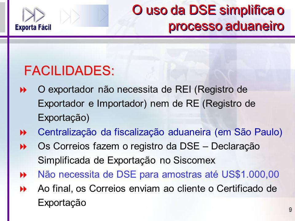 O uso da DSE simplifica o processo aduaneiro