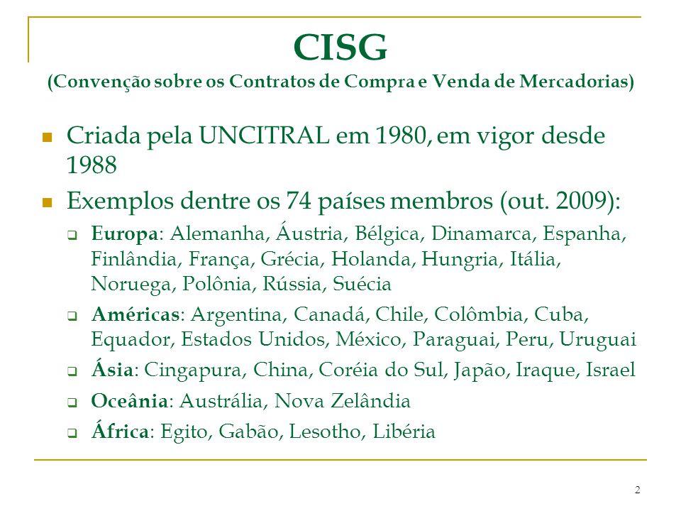 CISG (Convenção sobre os Contratos de Compra e Venda de Mercadorias)