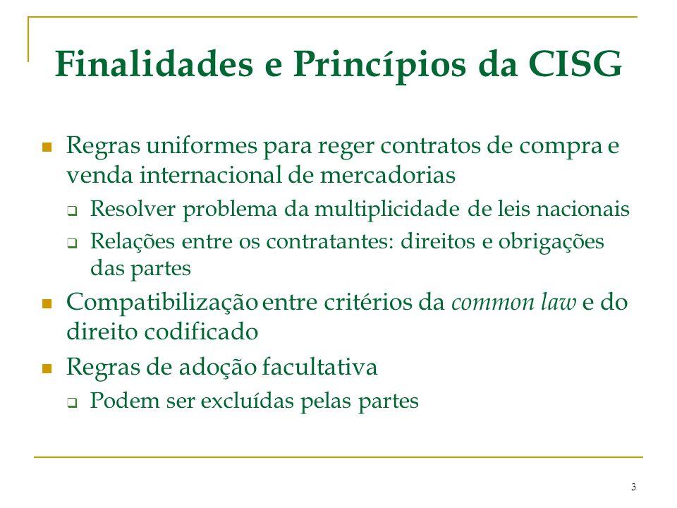Finalidades e Princípios da CISG