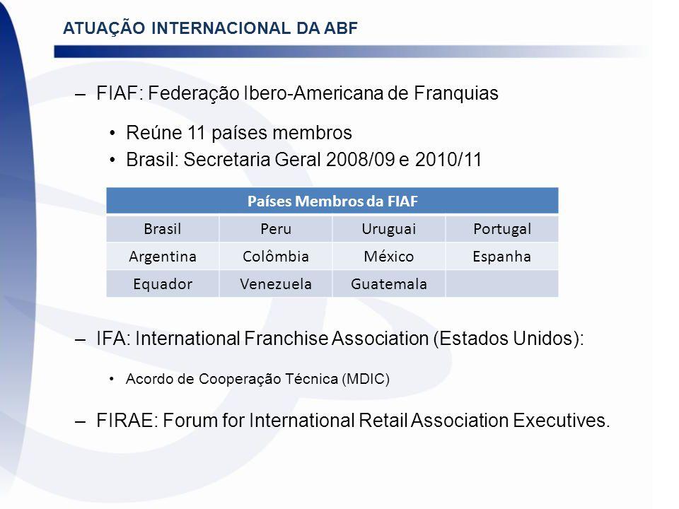 FIAF: Federação Ibero-Americana de Franquias Reúne 11 países membros