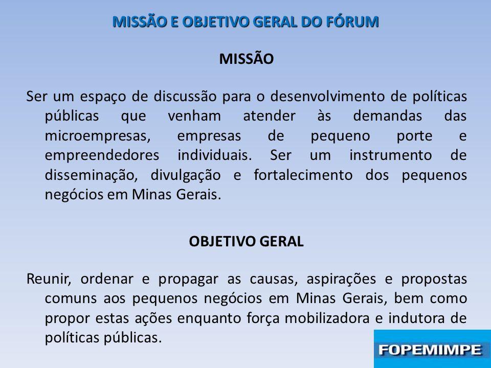 MISSÃO E OBJETIVO GERAL DO FÓRUM