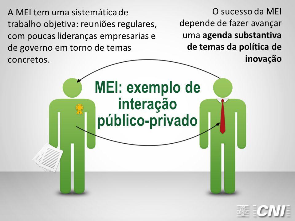 MEI: exemplo de interação público-privado