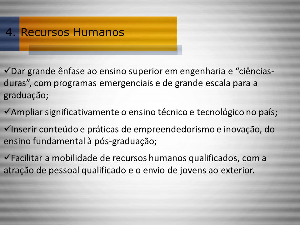 4. Recursos Humanos.