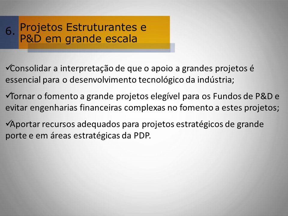 Projetos Estruturantes e P&D em grande escala 6.