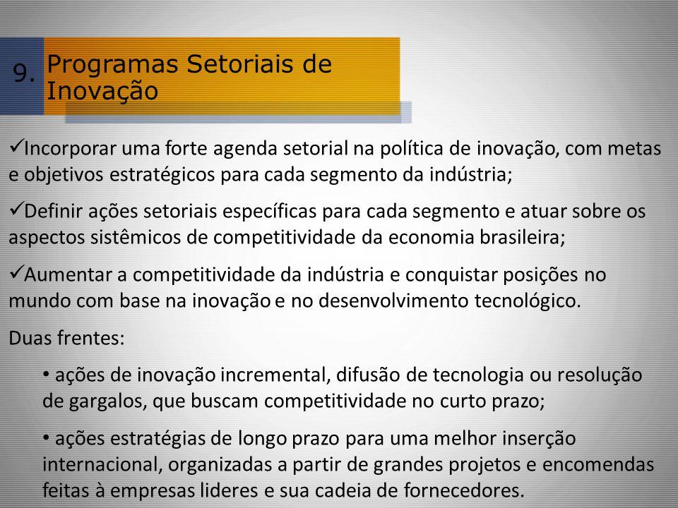 Programas Setoriais de Inovação 9.