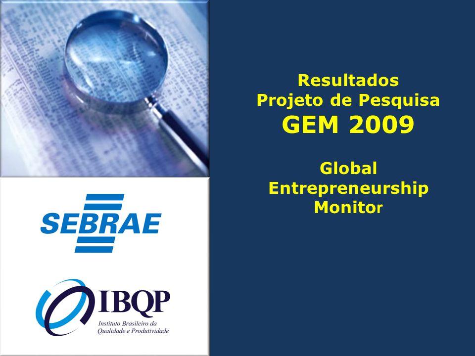 GEM 2009 Resultados Projeto de Pesquisa Global Entrepreneurship