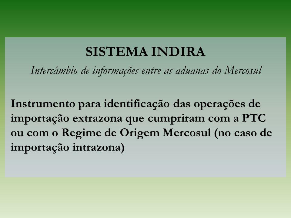 Intercâmbio de informações entre as aduanas do Mercosul