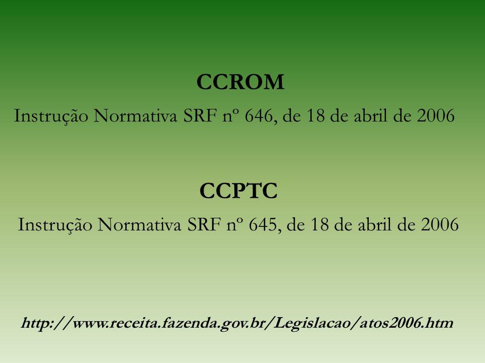 Instrução Normativa SRF nº 645, de 18 de abril de 2006