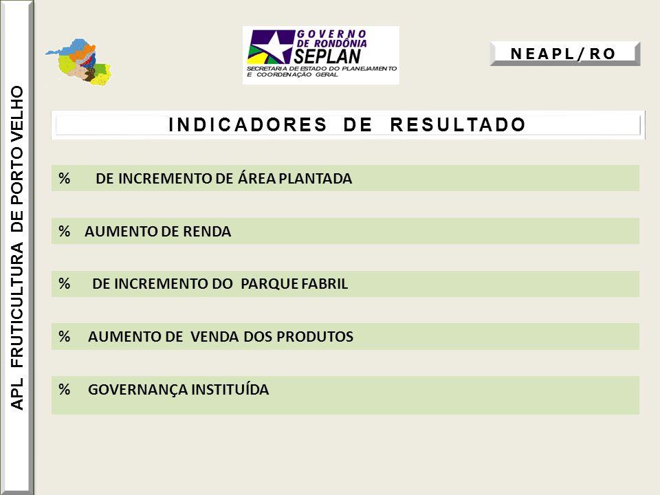 APL FRUTICULTURA DE PORTO VELHO INDICADORES DE RESULTADO