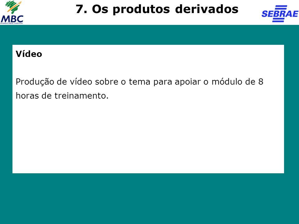 7. Os produtos derivados Vídeo