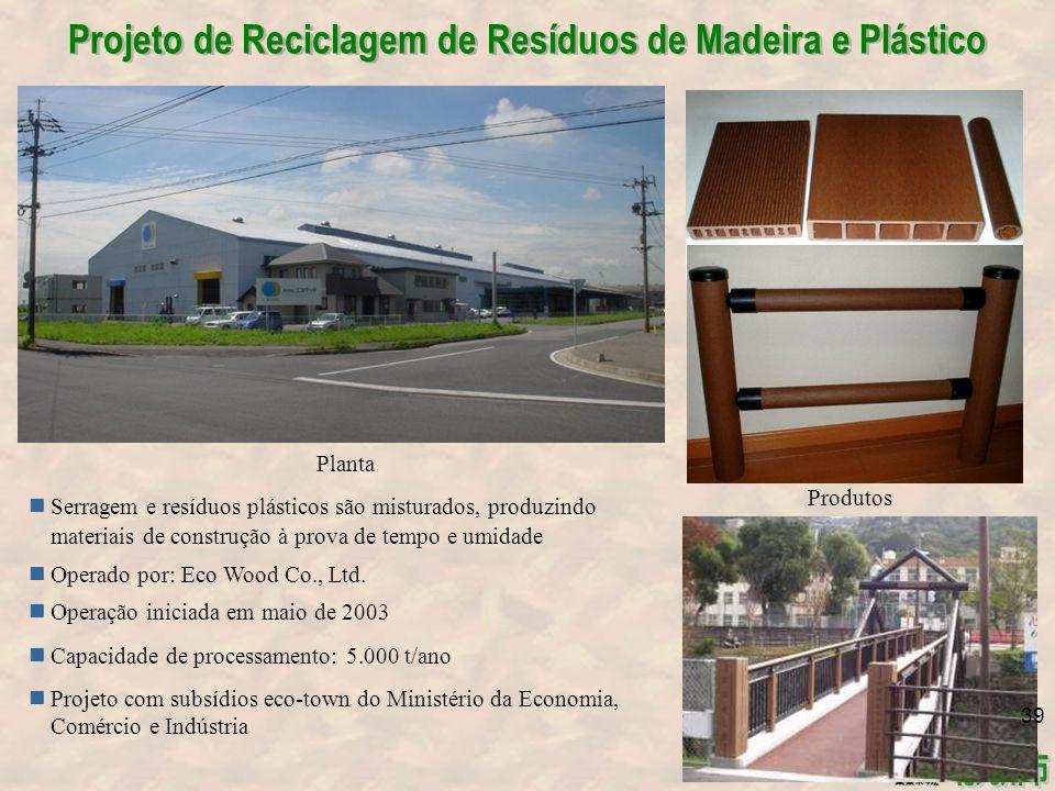 Projeto de Reciclagem de Resíduos de Madeira e Plástico