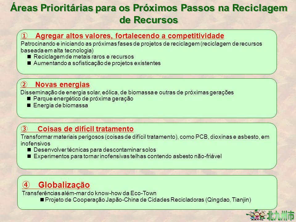 Áreas Prioritárias para os Próximos Passos na Reciclagem de Recursos