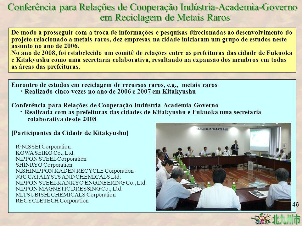 Conferência para Relações de Cooperação Indústria-Academia-Governo em Reciclagem de Metais Raros