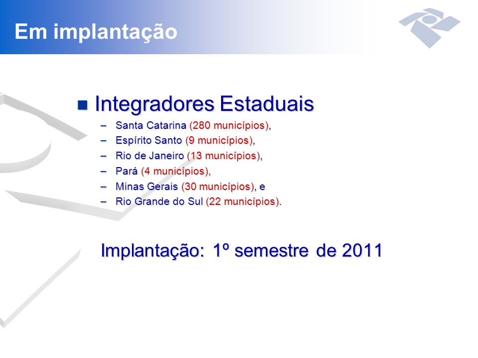 Integradores Estaduais