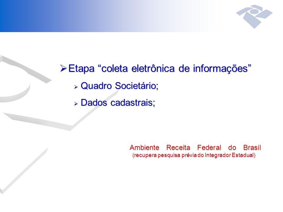 Etapa coleta eletrônica de informações
