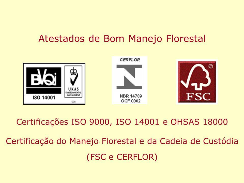Atestados de Bom Manejo Florestal
