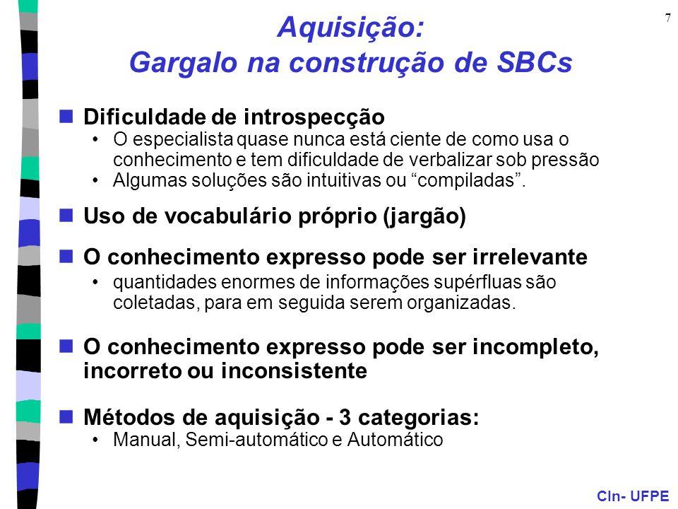 Aquisição: Gargalo na construção de SBCs