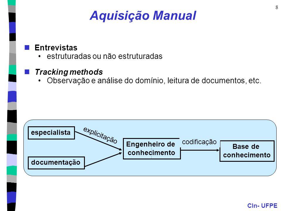 Aquisição Manual Entrevistas estruturadas ou não estruturadas