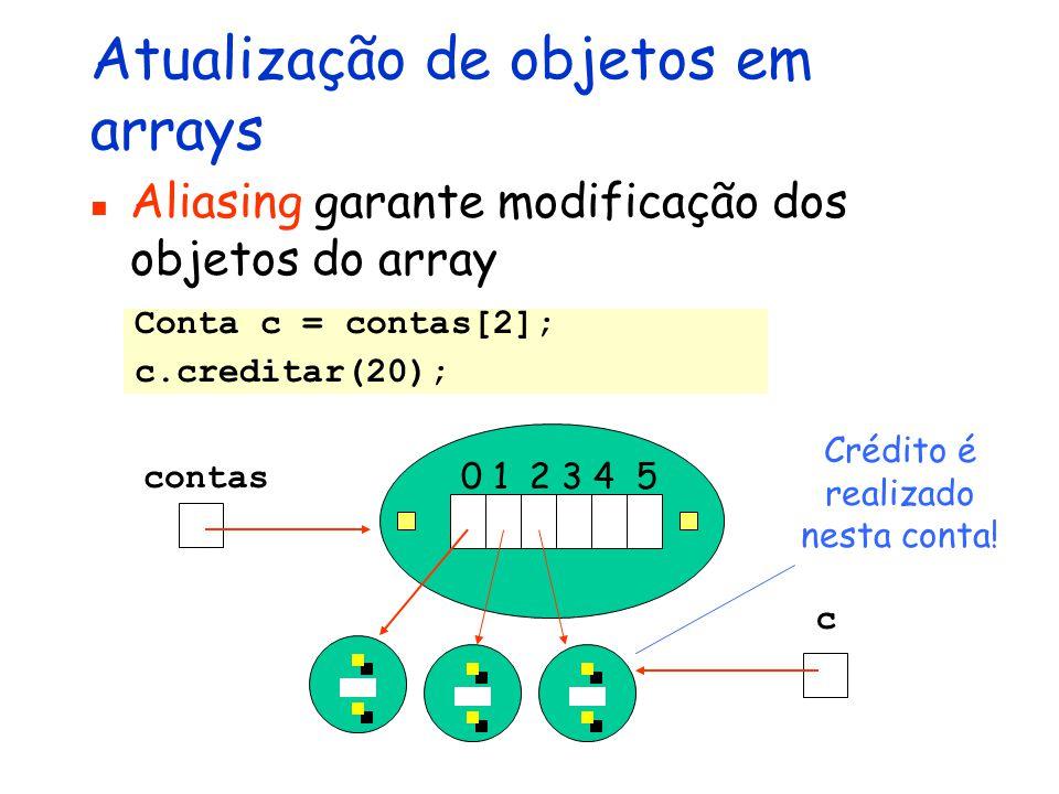 Atualização de objetos em arrays