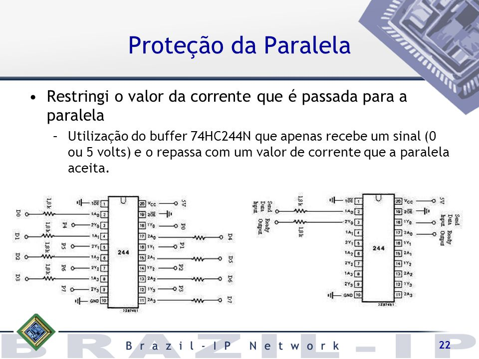 Proteção da Paralela Restringi o valor da corrente que é passada para a paralela.