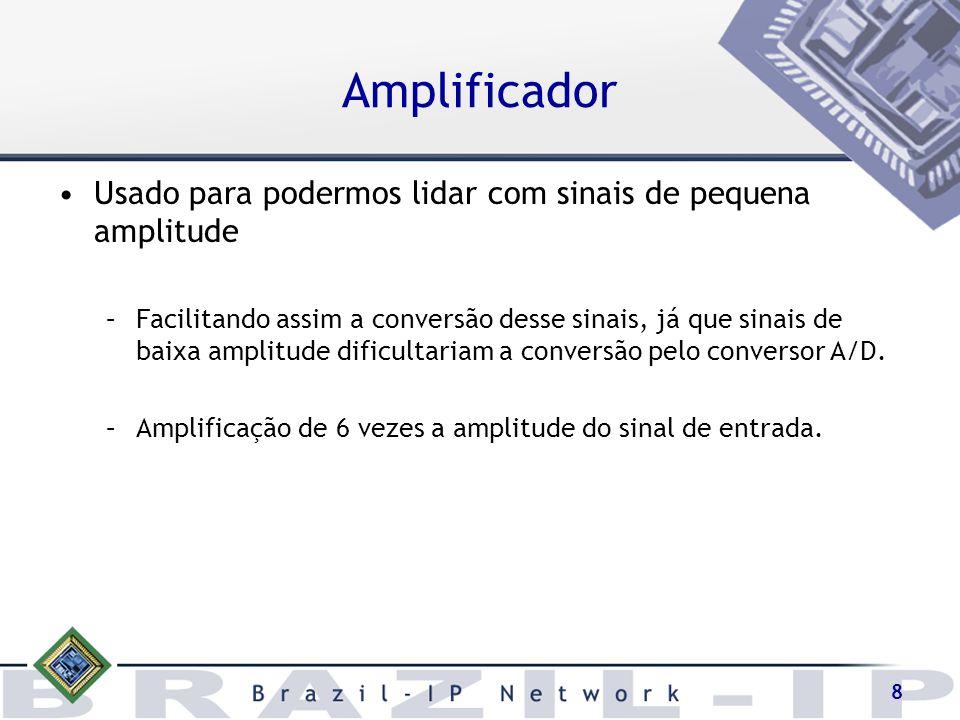 Amplificador Usado para podermos lidar com sinais de pequena amplitude