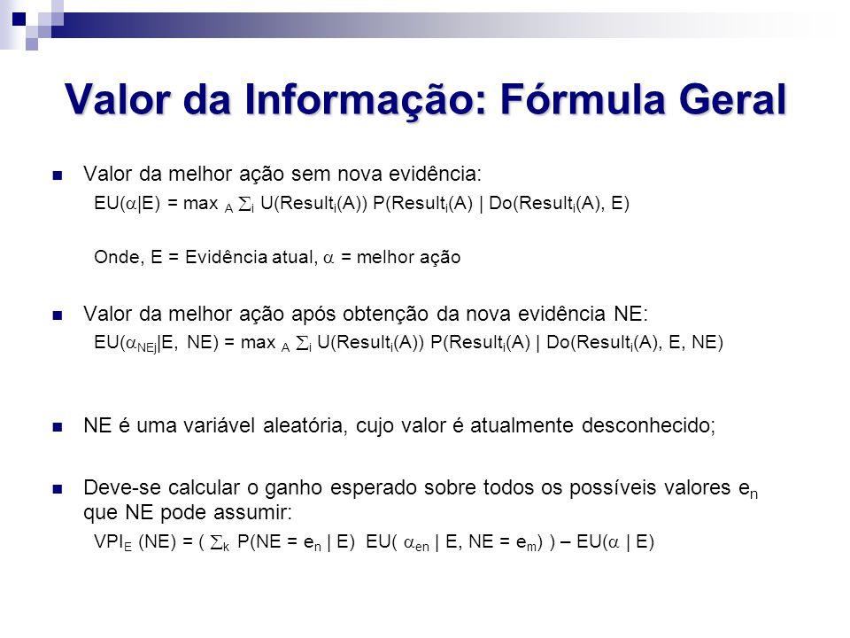 Valor da Informação: Fórmula Geral