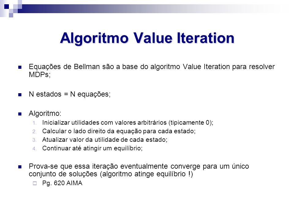 Algoritmo Value Iteration