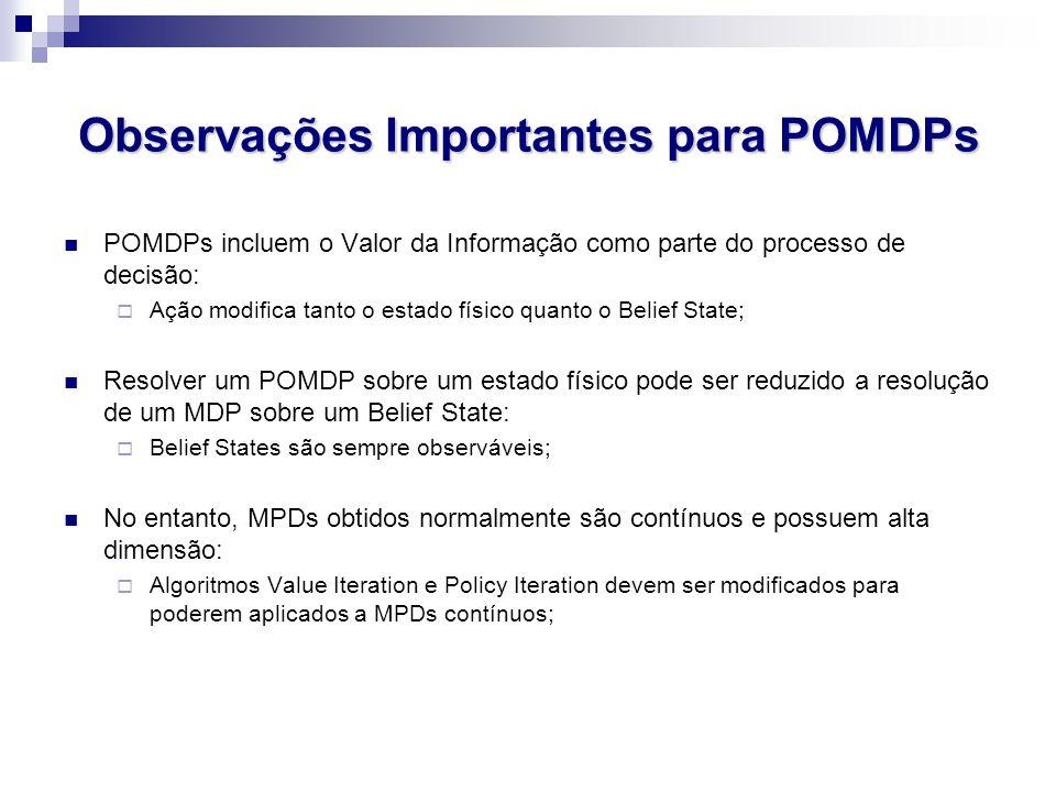 Observações Importantes para POMDPs