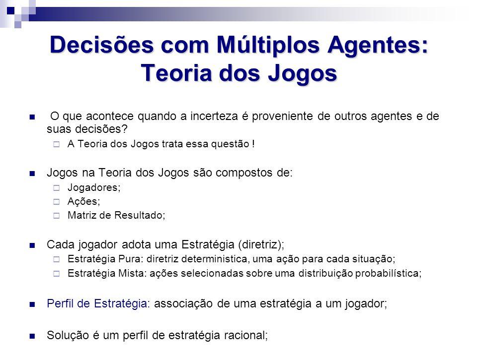 Decisões com Múltiplos Agentes: Teoria dos Jogos