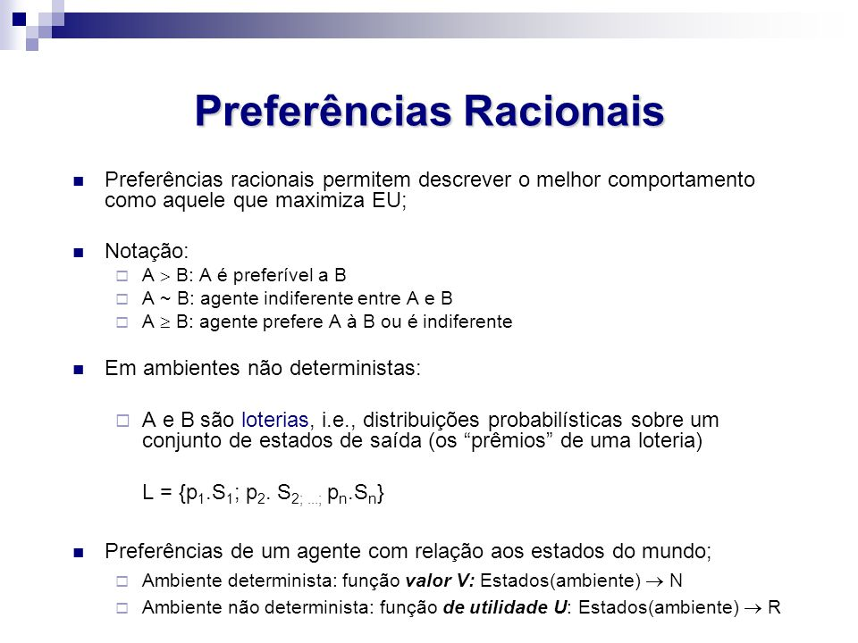 Preferências Racionais