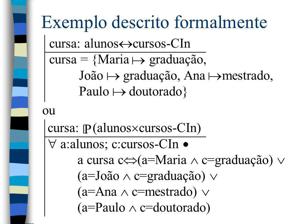 Exemplo descrito formalmente