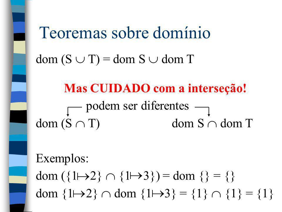 Teoremas sobre domínio