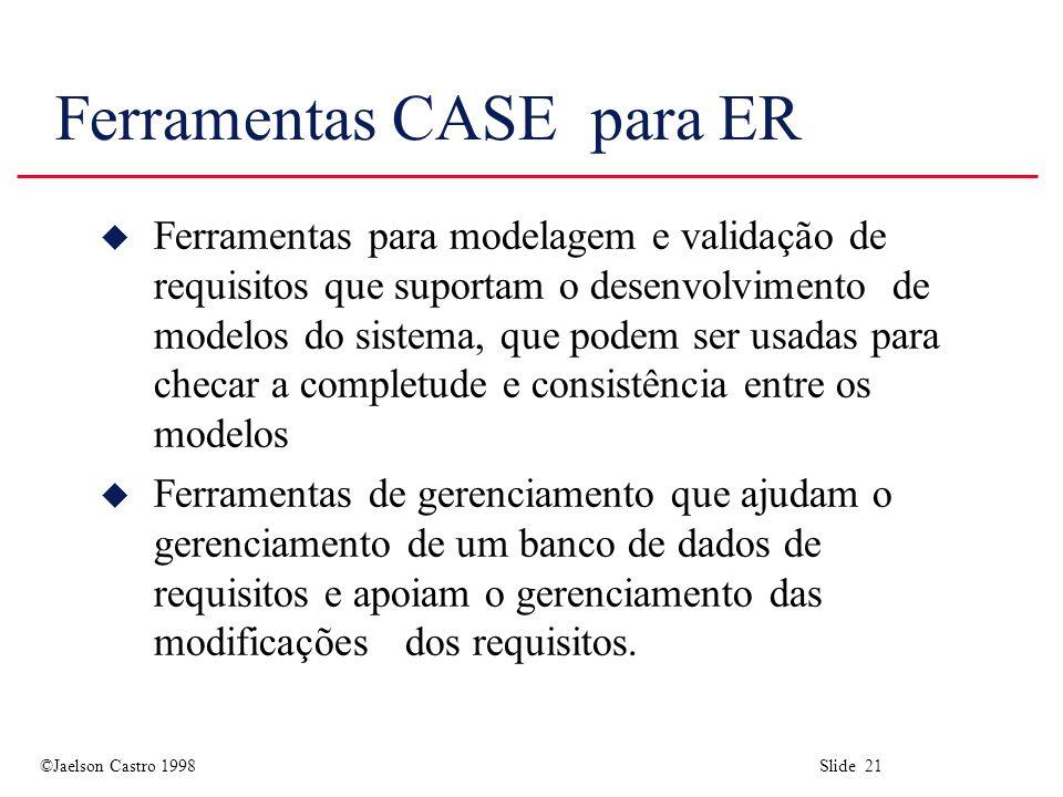 Ferramentas CASE para ER