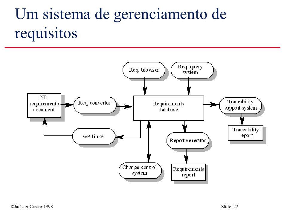 Um sistema de gerenciamento de requisitos