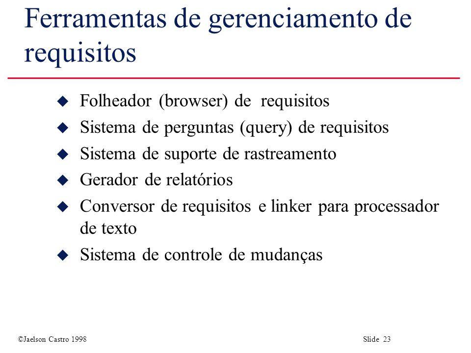 Ferramentas de gerenciamento de requisitos