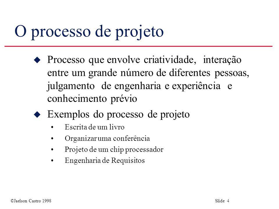 O processo de projeto