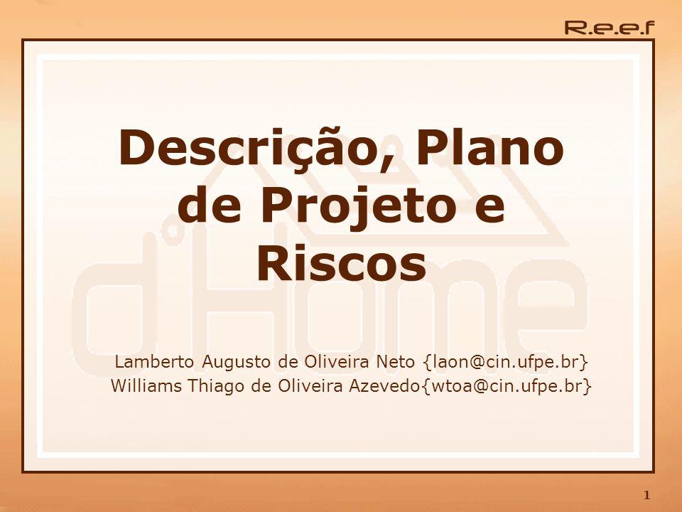 Descrição, Plano de Projeto e Riscos
