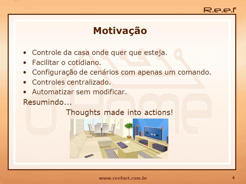 Motivação Resumindo... Thoughts made into actions!