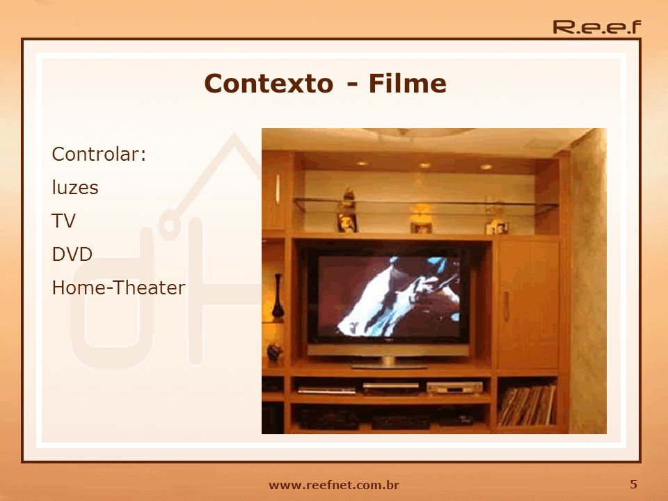 Contexto - Filme Controlar: luzes TV DVD Home-Theater