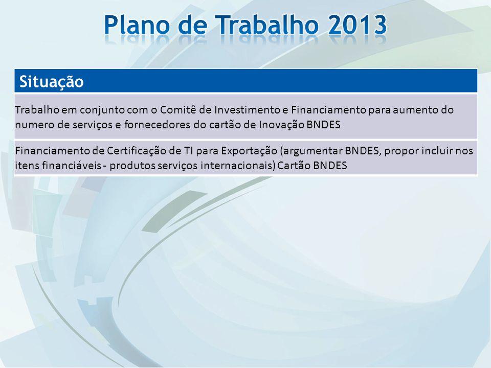 Plano de Trabalho 2013 Situação