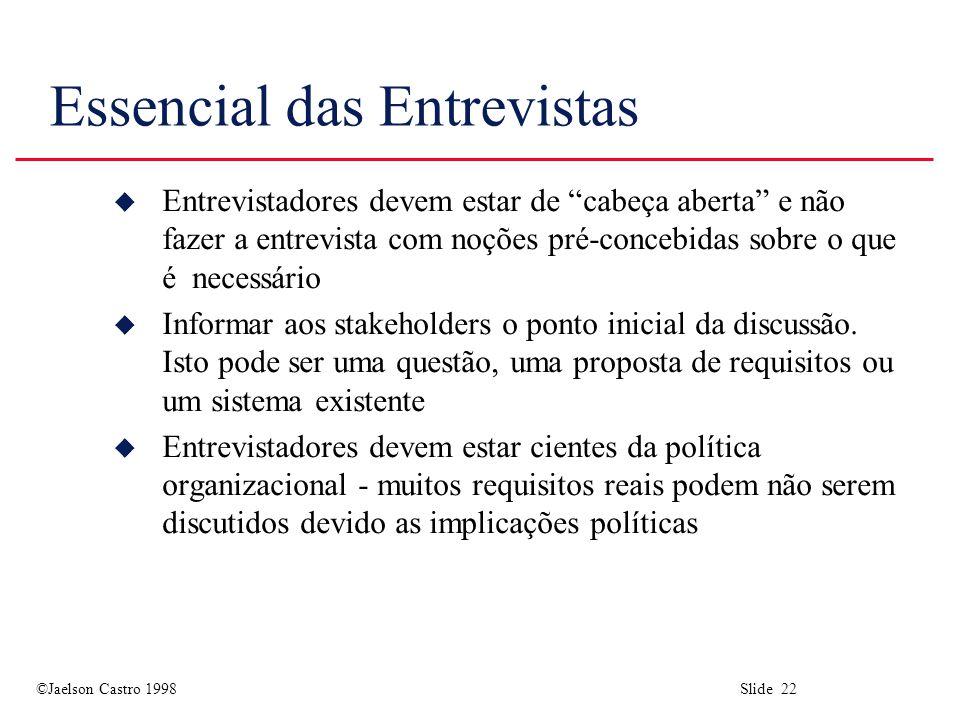 Essencial das Entrevistas