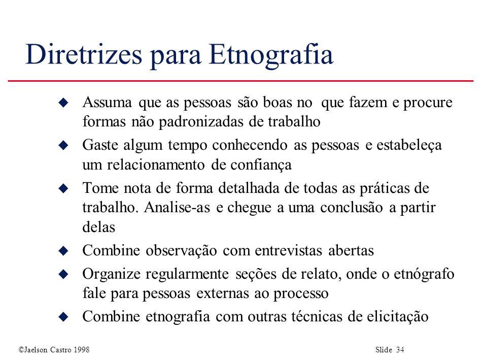 Diretrizes para Etnografia