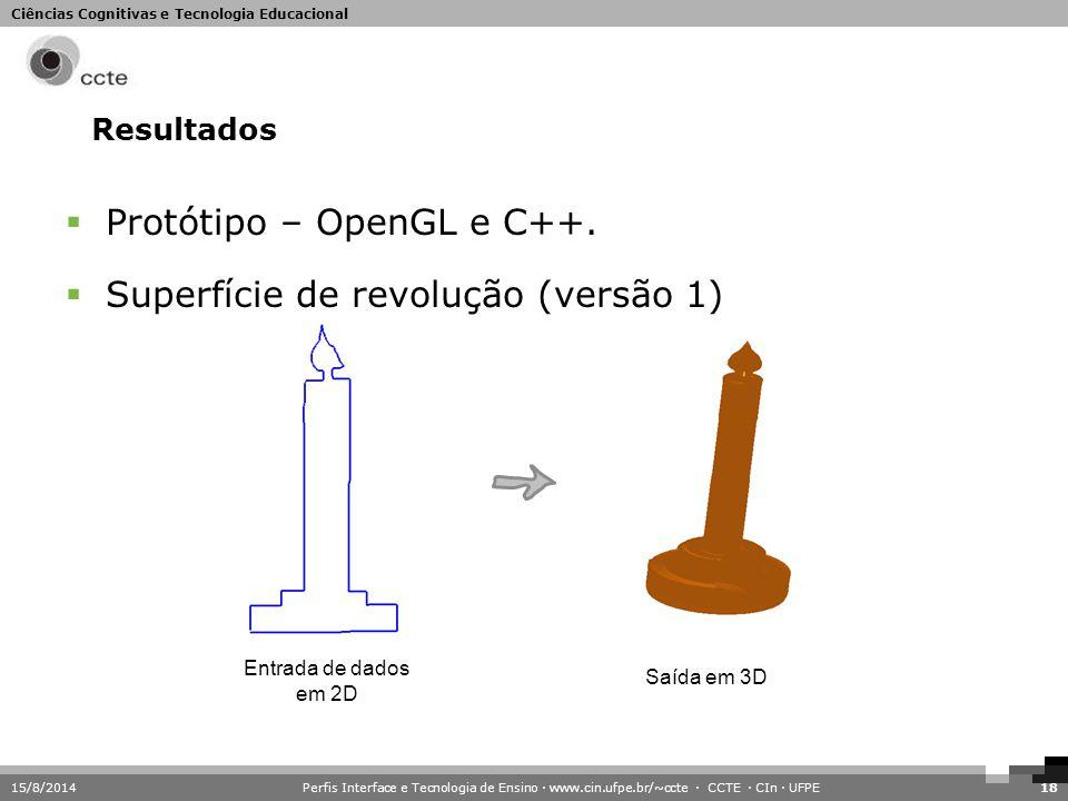 Protótipo – OpenGL e C++. Superfície de revolução (versão 1)