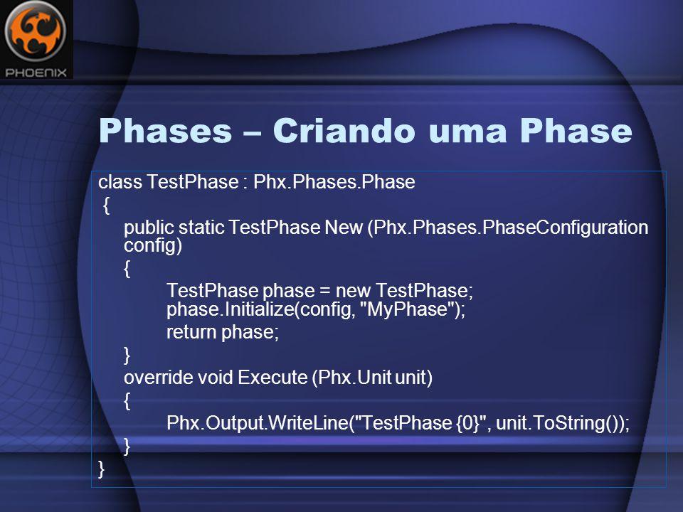 Phases – Criando uma Phase