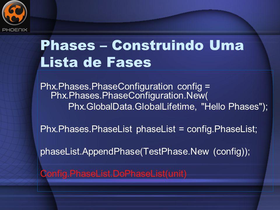 Phases – Construindo Uma Lista de Fases