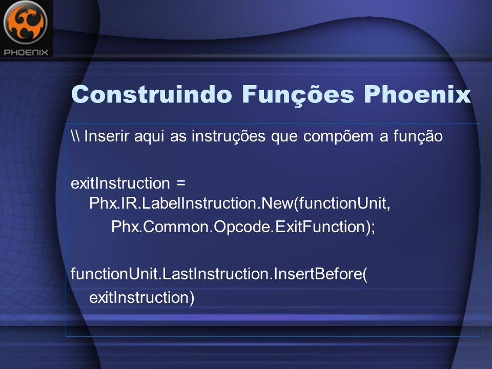 Construindo Funções Phoenix