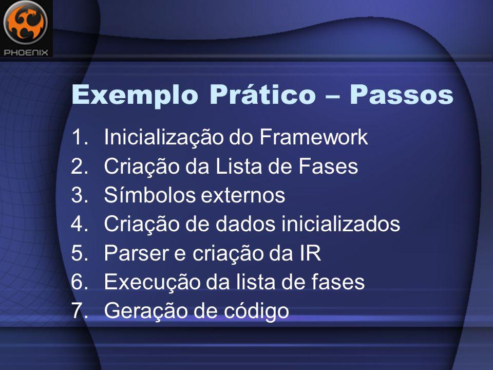 Exemplo Prático – Passos